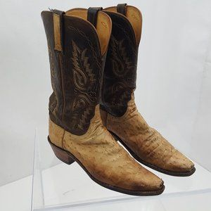 1883 By Lucchese Brown Ostrich Boots Size 10 B